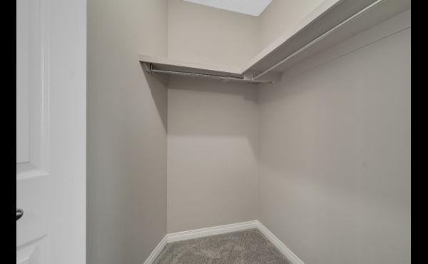 Walk-in closet in master