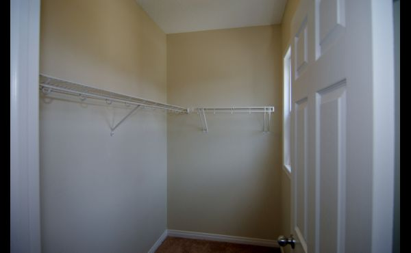Bright walk-in closet