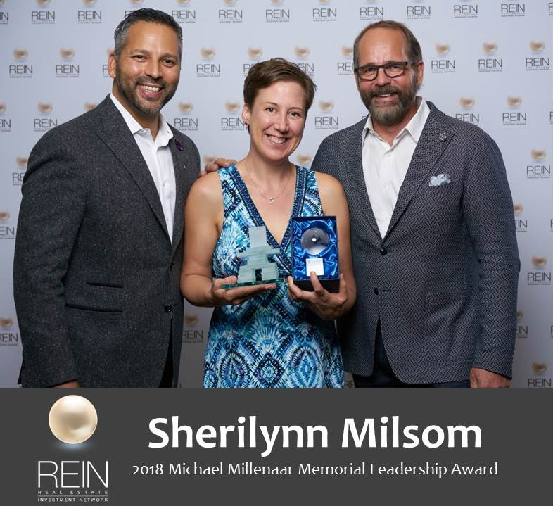 Sherilynn Milsom 2018 Michael Millenaar Memorial Leadership Award 2